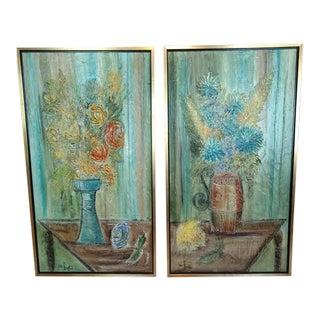 VanHoople Oil Paintings - a Pair For Sale