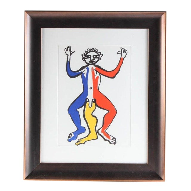 """1975 Original """"Acrobat (Blue, Yellow, Red)"""" Lithograph by Alexander Calder For Sale"""