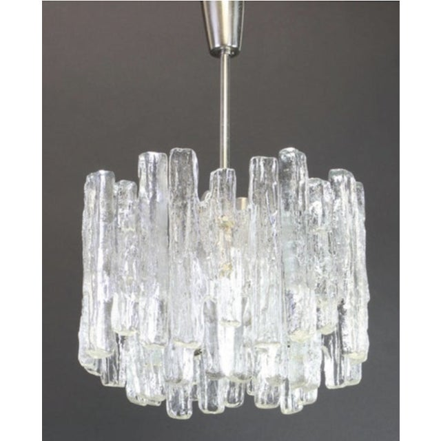 Kalmar 1960s Large Murano Ice Glass Chandelier by Kalmar, Austria, 1960s For Sale - Image 4 of 9