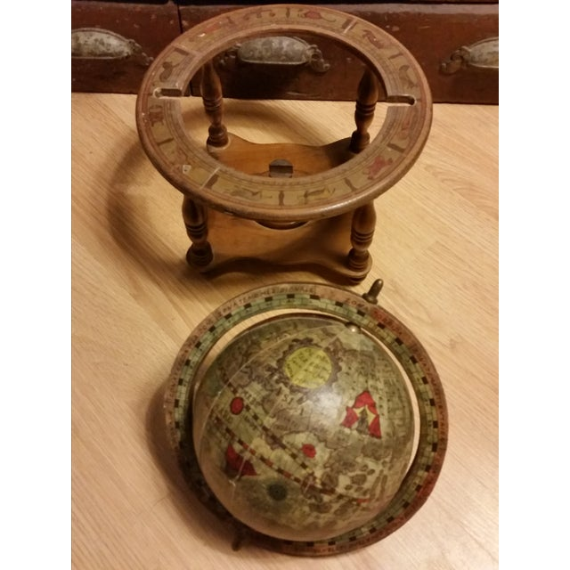 Vintage Italian Mini Old World Horoscope Globe - Image 4 of 8