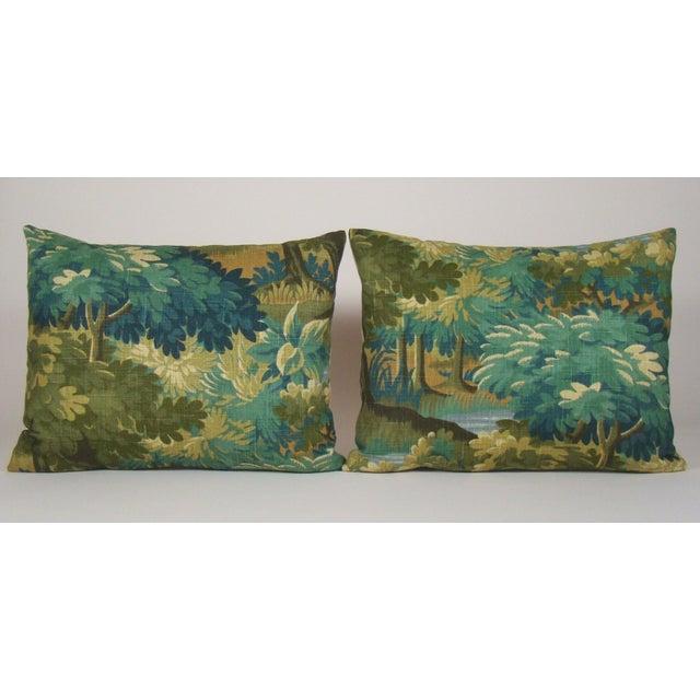 Verdure Print Linen Large Lumbar Pillow Cover For Sale - Image 10 of 11