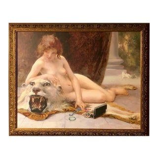 Framed French Recreation Painting For Sale
