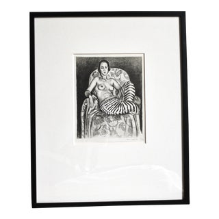 Framed Matisse Odalisque Reproduction Lithograph Print