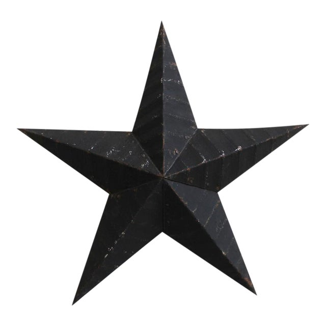 Black Painted Metal Star For Sale