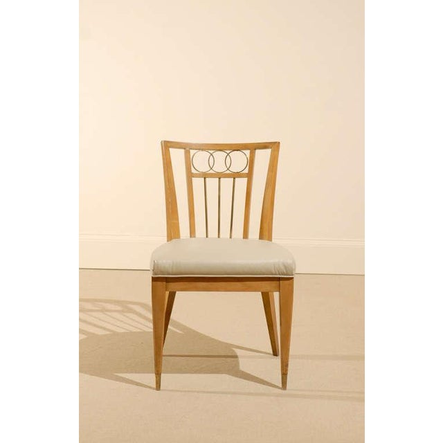 A great looking set of four (4) chairs in the style of Michael Taylor. Excellent restored condition, constructed from...