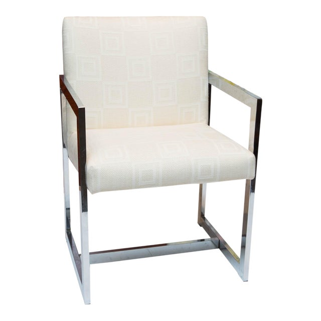 Mid-Century Modern Chrome Armchair For Sale