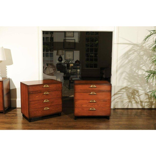 Mid-Century Modern Rare Restored Pair of Commodes by John Wisner for Ficks Reed, Circa 1954 For Sale - Image 3 of 11
