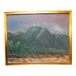 "1961 ""Rose Canyon Ojai"" Oil Painting by Anders Aldrin For Sale"