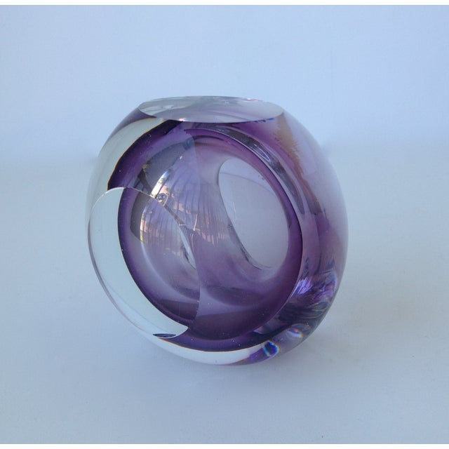 Glass Italian Murano Sommerso Purple & Clear Bowl For Sale - Image 7 of 11