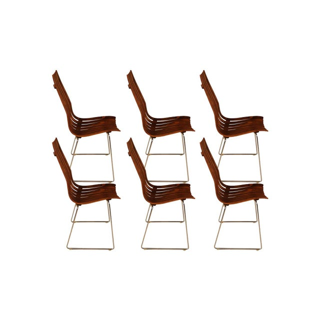 "Mid-Century Modern Norwegian Modern Hans Brattrud ""Scandia"" Rosewood Dining Chairs For Sale - Image 3 of 11"