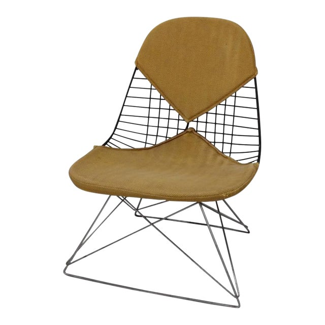 Early and Original Charles and Ray Eames Lkr Chair on Zinc Cats Cradle Base For Sale