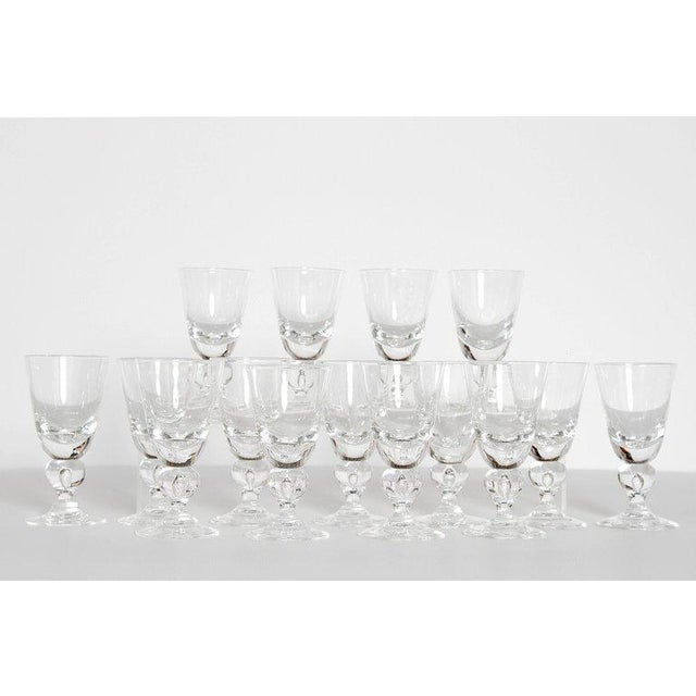 Mid 20th Century Set of Fifteen (15) Steuben Baluster Water Goblets For Sale - Image 5 of 12