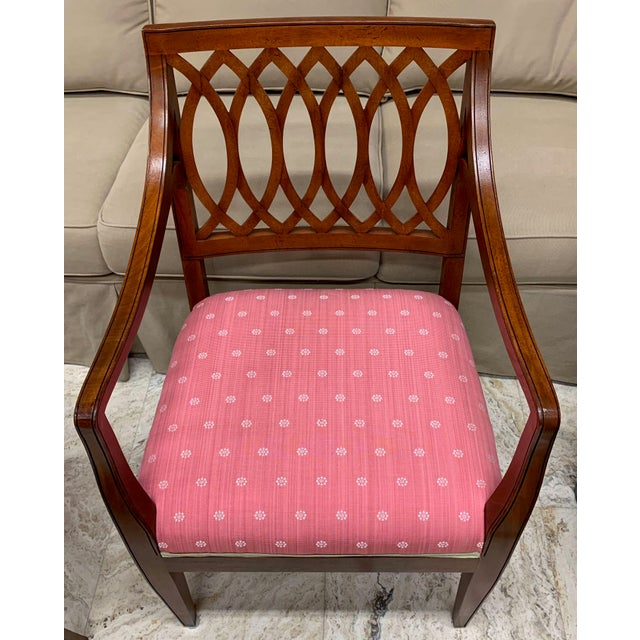 Traditional 1990s Vintage Baker Williamsburg Collection Armchairs - A Pair For Sale - Image 3 of 12