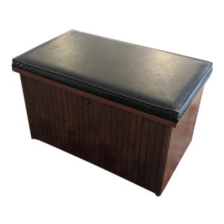 1970's Vintage Lane Furniture Record Storage Bench For Sale