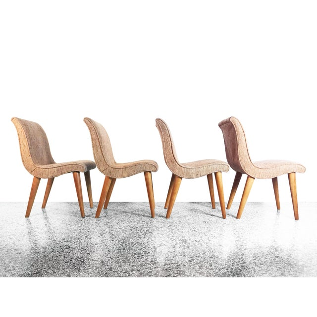 Danish Modern Russel Wright Scoop Dining Chairs - Set of 4 For Sale - Image 3 of 13