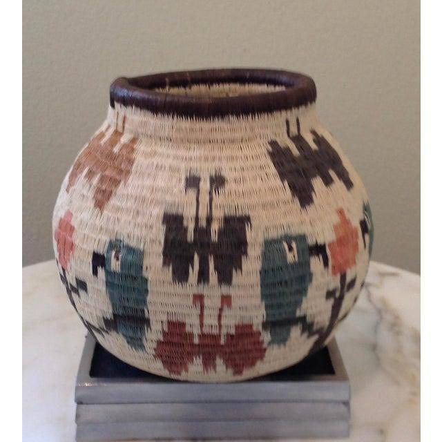 Figurative-Style Woven Wounaan Basket - Image 2 of 7