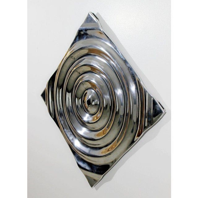 Late 20th Century Mid-Century Modern Aluminium Cast Saturn Ring Wall Sculpture Relief, 1970s For Sale - Image 5 of 7