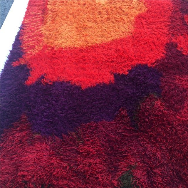 "Mid-Century Abstract RYA Shag Rug - 7'10"" X 10'10"" For Sale - Image 4 of 8"