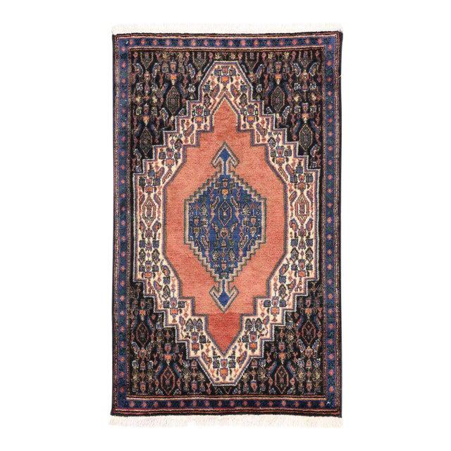 Vintage Sanadaj Persian Rug, Kitchen Rug, Foyer or Entry Rug, 02'02 X 03'07 For Sale
