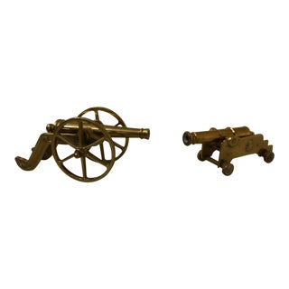 Virginia Metalcrafters Model Brass Cannons - a Pair For Sale