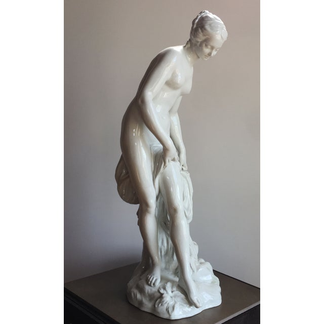19th C. Falconet Porcelain 'Bather' Sculpture - Image 3 of 10