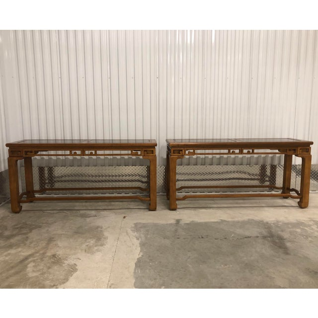 1970s Chinese Style Sofa Console Tables - a Pair For Sale - Image 12 of 12
