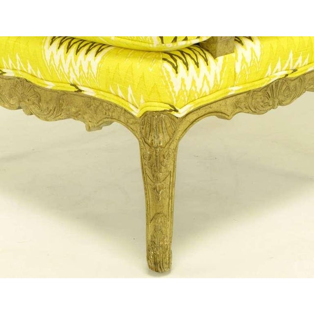 Pair Erwin-Lambeth Louis XV Style Arm Chairs & Ottoman - Image 7 of 10