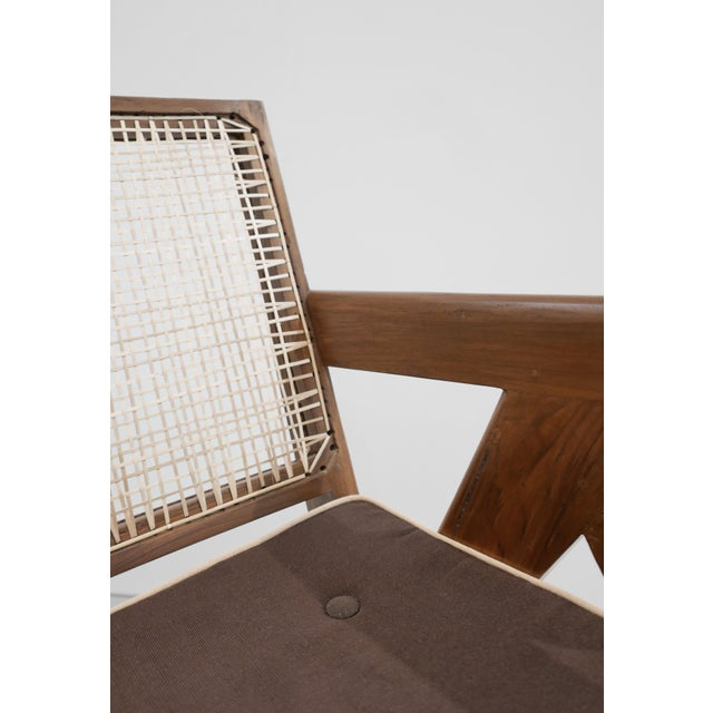 Aluminum 1955 Pierre Jeanneret Model Pj-Si-29-A Low Lounge Chair For Sale - Image 7 of 8