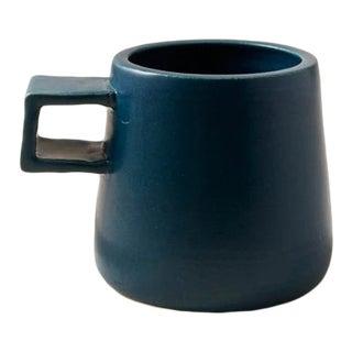 Contemporary Handmade Ceramic Maya Mug - Azure For Sale