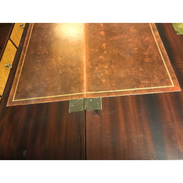 19th Century Chippendale English Hepplewhite Style Drop Top Desk For Sale - Image 12 of 12