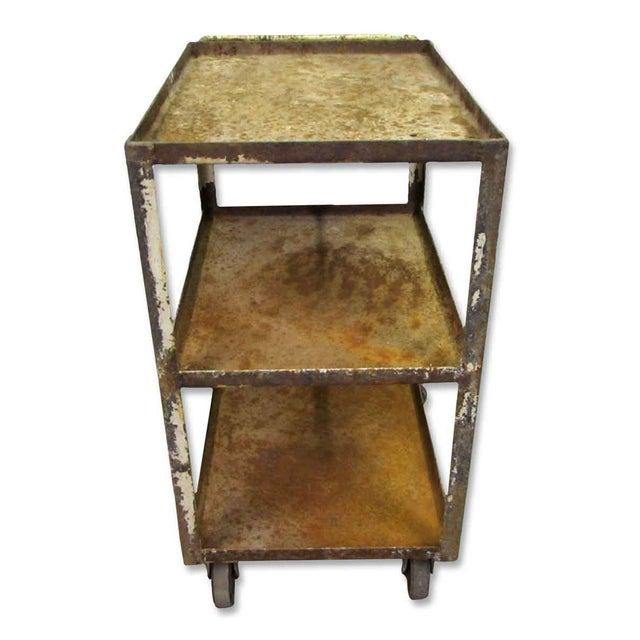 Industrial Rusted Metal Cart For Sale - Image 5 of 6
