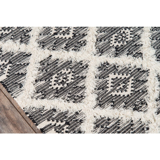 """Contemporary Harper Black Hand Woven Area Rug 7'6"""" X 9'6"""" For Sale - Image 3 of 8"""