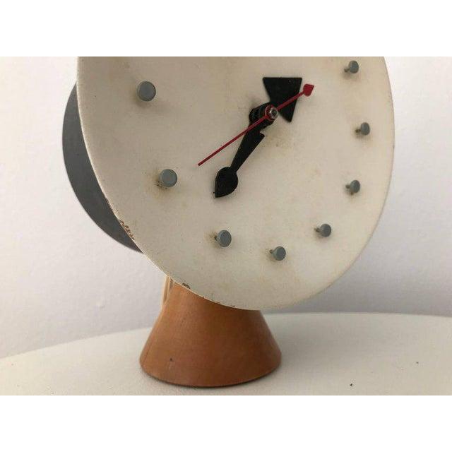 Metal George Nelson & Irving Harper for Howard Miller Table Desk Clock, 1951, Works For Sale - Image 7 of 13