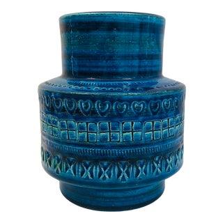 Aldo Londi for Bittosi Rimini Blue Vase For Sale