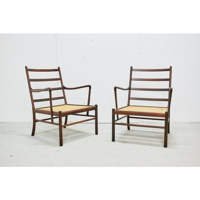 Mid 20th Century Rosewood Ole Wanscher Colonial Chairs, P. Jeppesens Møbelfabrik, Denmark, 1960s For Sale - Image 5 of 13