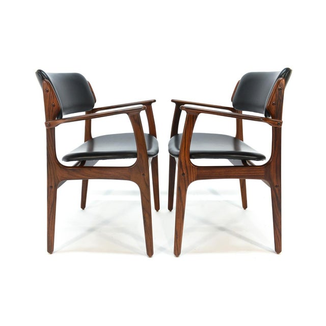 Erik Buck Model 49 Rosewood Dining Chairs - Set of 8 - Image 8 of 10