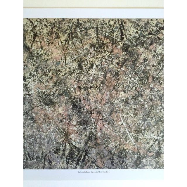 """Abstract Jackson Pollock Foundation Abstract Expressionist Collector's Lithograph Print """" Lavender Mist : No. 1 """" 1950 For Sale - Image 3 of 13"""