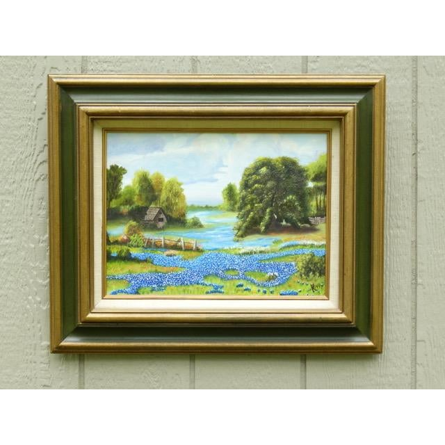 Countryside Bluebonnet Landscape Original Oil Painting For Sale - Image 4 of 13