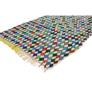 Vintage Berber Moroccan Azilal Rug with Diamond Lozenge Pattern Preview