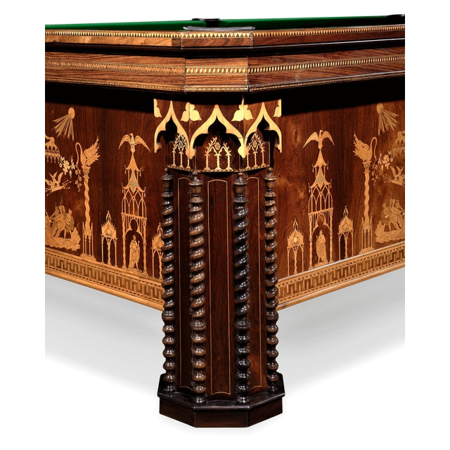 French French Gothic Revival Billiard Table For Sale - Image 3 of 8