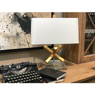 Contemporary Jackson Square Gold Steel Table Lamp Preview