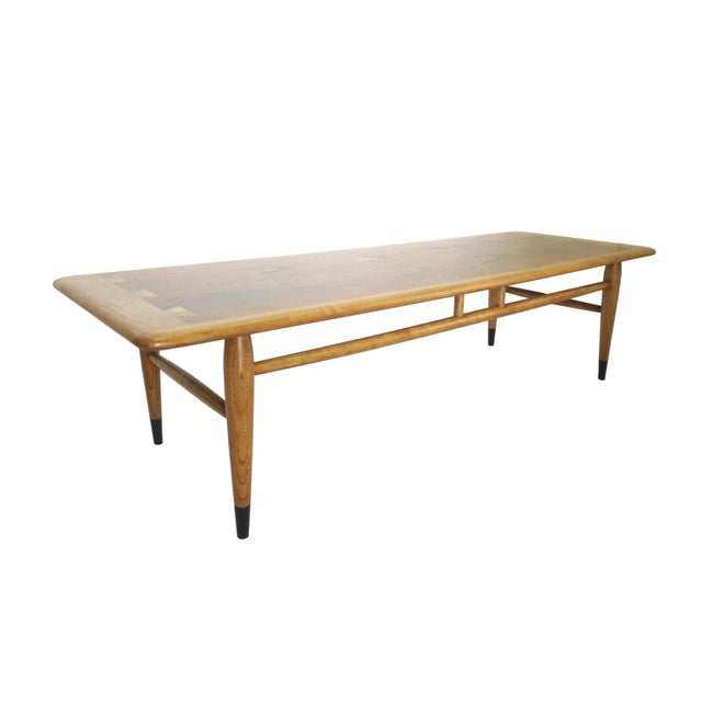 Mid-Century Ash and Walnut Coffee Table by Lane - Image 4 of 9
