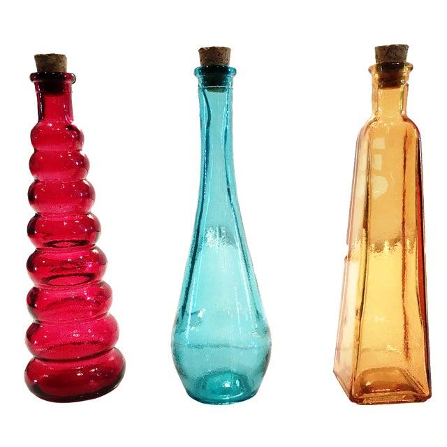 Vintage Glass Bottles - Set of 3 - Image 1 of 5