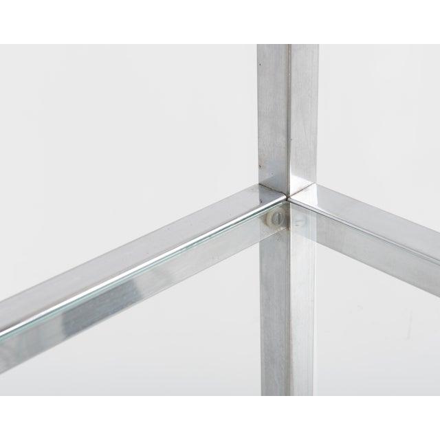 Chrome 1970s Milo Baughman Style Mid-Century Chrome Glass Etagere For Sale - Image 8 of 11