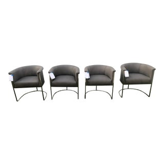 Restoration Hardware Wexler Barrel Back Dining Chairs - Set of 4, Plus One Free For Sale