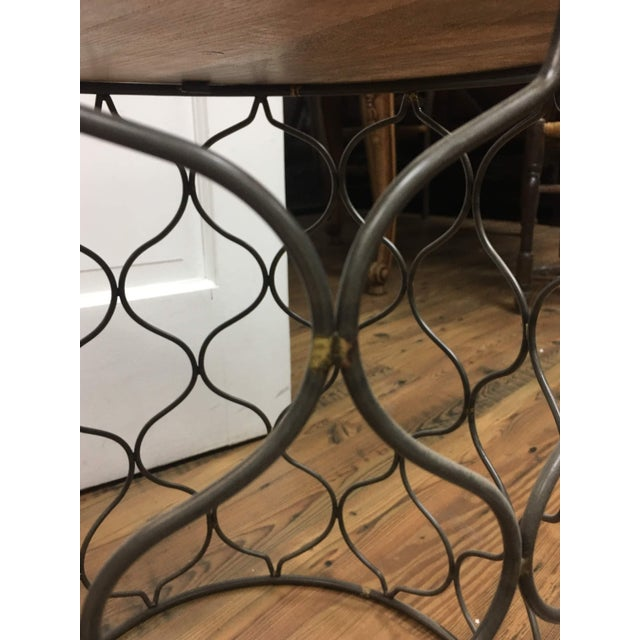 Iron Iron Arabesco Side Table with Mango Wood Top For Sale - Image 7 of 12
