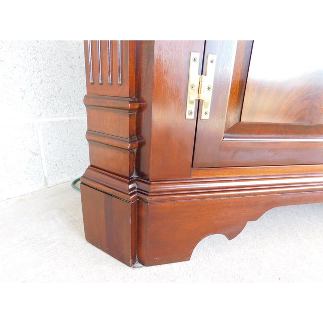 Councill Furniture Councill Craftsmen Mahogany Chippendale Style Lighted Corner Cabinet For Sale - Image 4 of 13