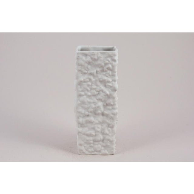Contemporary Circa 1960's Wunsiedel Bavaria White Porcelain Vase For Sale - Image 3 of 3