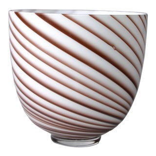 Original Tommaso Barbi Italian Murano Decorative Bowl / Vase For Sale