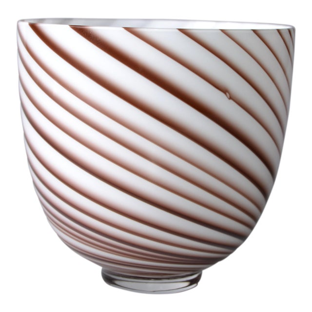 Original Tommaso Barbi Italian Murano Decorative Bowl / Vase For Sale